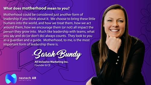Sarah Bundy Motherhood