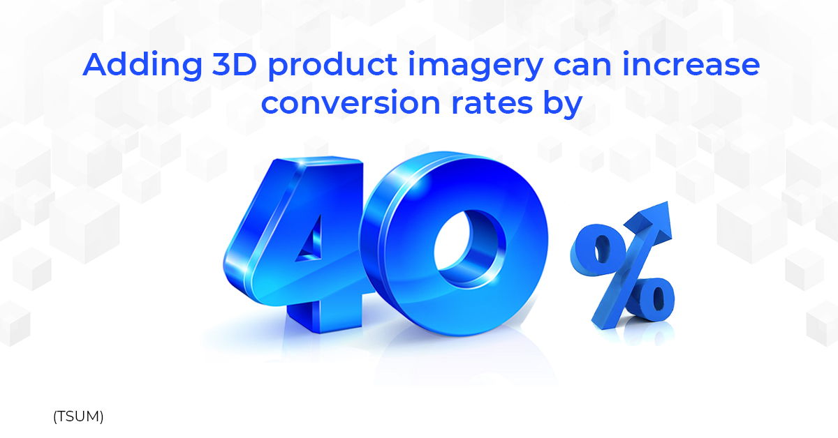 Adding 3D product imagery can increase conversion rates by 40%.