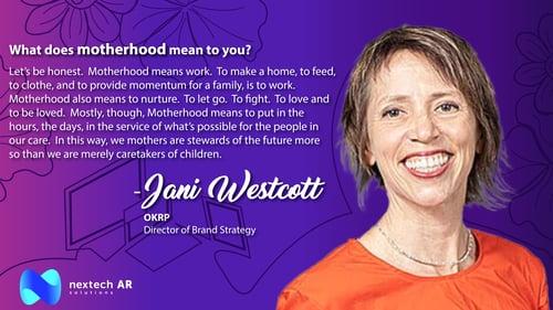 Jani Westcott Motherhood
