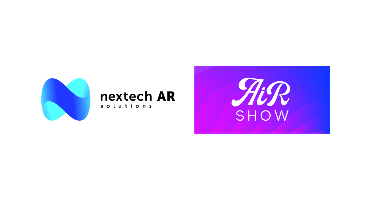 Nextech AR Solutions Logo and AiRshow Logo on white background.