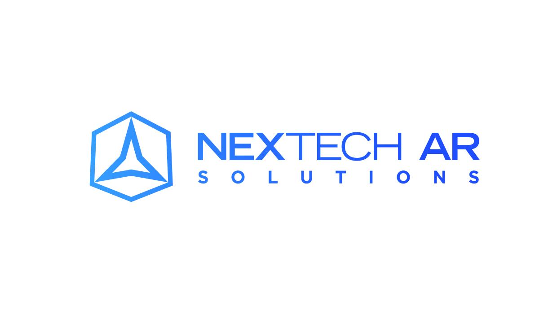 Nextech AR Solutions logo in blue gradient