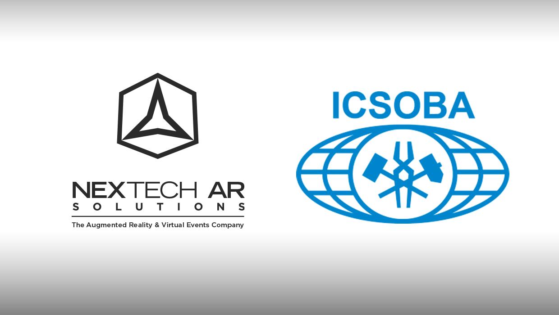 Nextech AR Solutions logo with ICSOBA logo