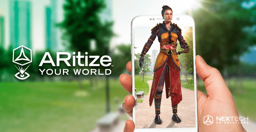 Viewing historical clothing in ARitize application