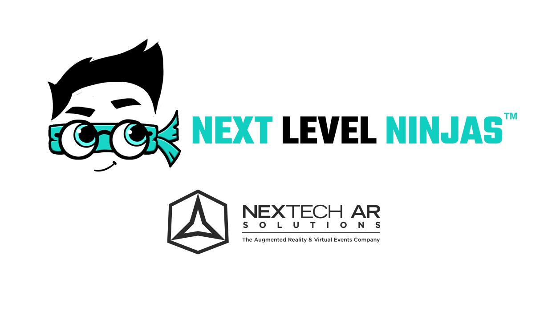 Nextech AR Solutions logo with Next Level Ninjas logo
